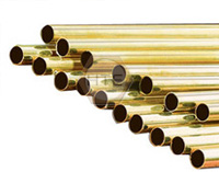 Brass tube for furniture and lighting fixtures