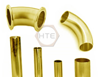 Brass tubes for sanitary fittings and accessories